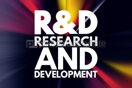 Business: R D - Research and Development acronym business concept backgro #16000