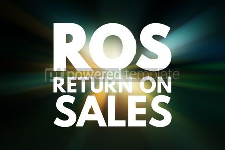 Business: ROS - Return On Sales acronym business concept background #16002