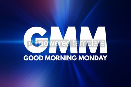 Business: GMM - Good Morning Monday acronym concept background #16009