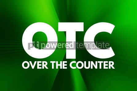 Business: OTC - Over The Counter acronym medical concept background #16016