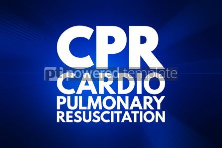 Business: CPR - Cardiopulmonary Resuscitation acronym medical concept bac #16019