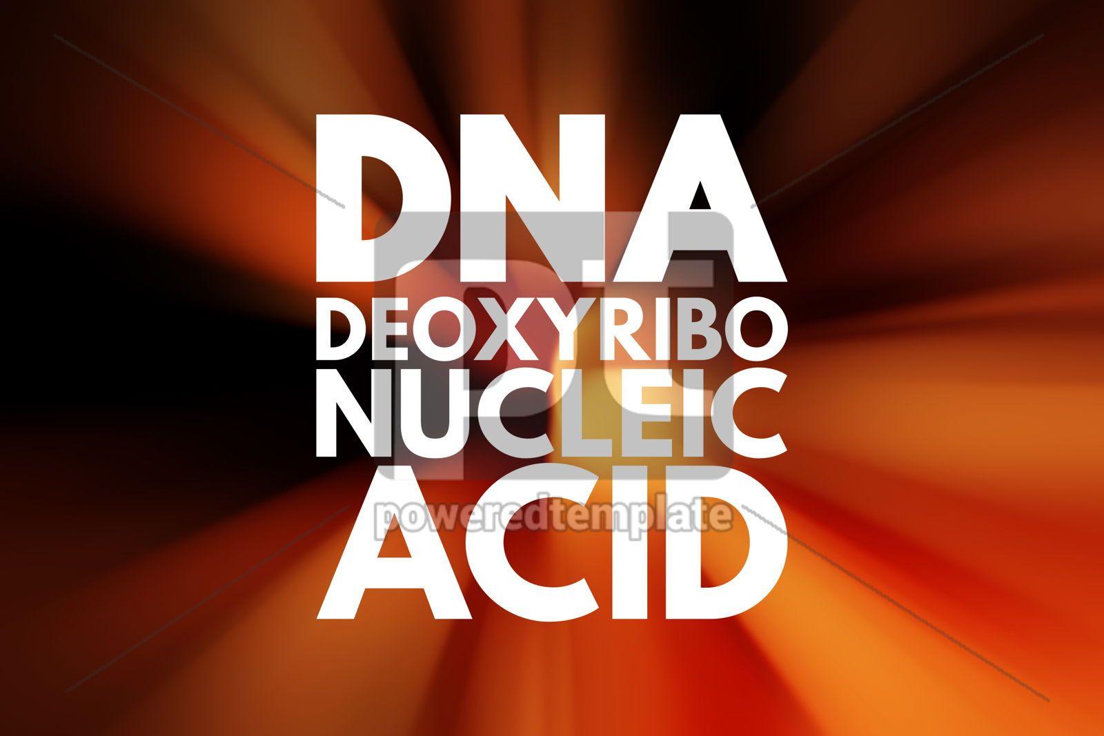 DNA - Deoxyribonucleic Acid acronym medical concept background, 16020, Business — PoweredTemplate.com