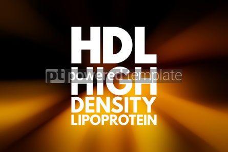 Business: HDL - High-density lipoprotein acronym medical concept backgrou #16023