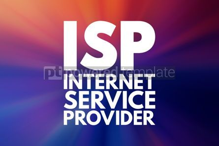 Business: ISP - Internet Service Provider acronym technology concept back #16027
