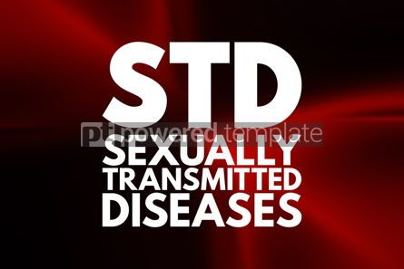 Business: STD - Sexually Transmitted Diseases acronym medical concept bac #16033
