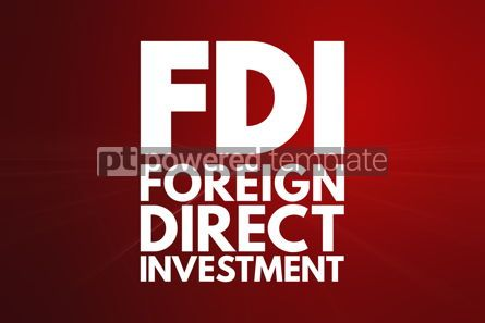Business: FDI - Foreign Direct Investment acronym business concept backgr #16037
