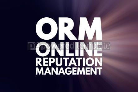 Business: ORM - Online Reputation Management acronym business concept bac #16046