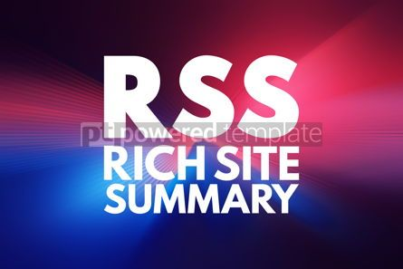 Business: RSS - Rich Site Summary acronym internet concept background #16049