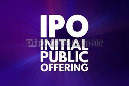 Business: IPO - Initial Public Offering acronym business concept backgrou #16050