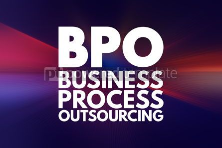 Business: BPO - Business Process Outsourcing acronym concept background #16051