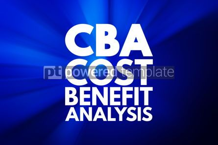 Business: CBA - Cost-benefit Analysis acronym business concept background #16056