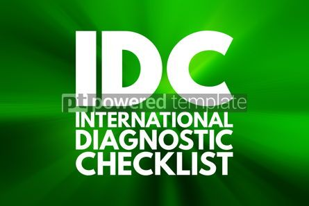 Business: IDC - International Diagnostic Checklist acronym business conce #16058