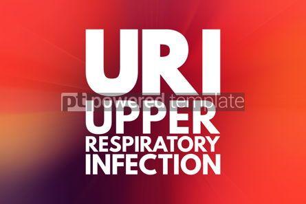 Business: URI - Upper Respiratory Infection acronym medical concept backg #16060