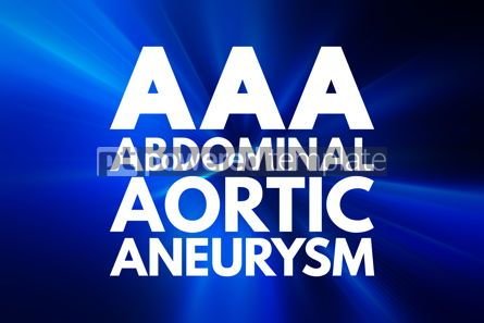 Business: AAA - Abdominal Aortic Aneurysm acronym medical concept backgro #16061