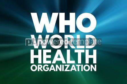 Business: WHO - World Health Organization acronym concept background #16063