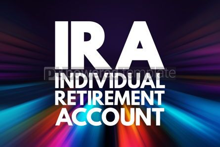Business: IRA - Individual Retirement Account acronym concept background #16070