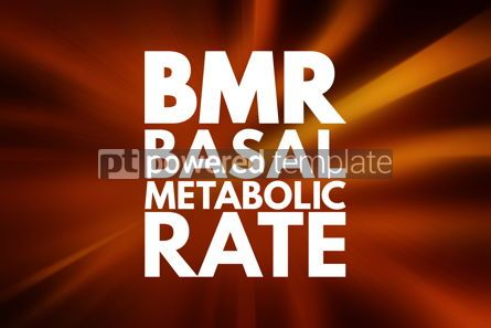 Business: BMR - Basal Metabolic Rate acronym concept background #16072