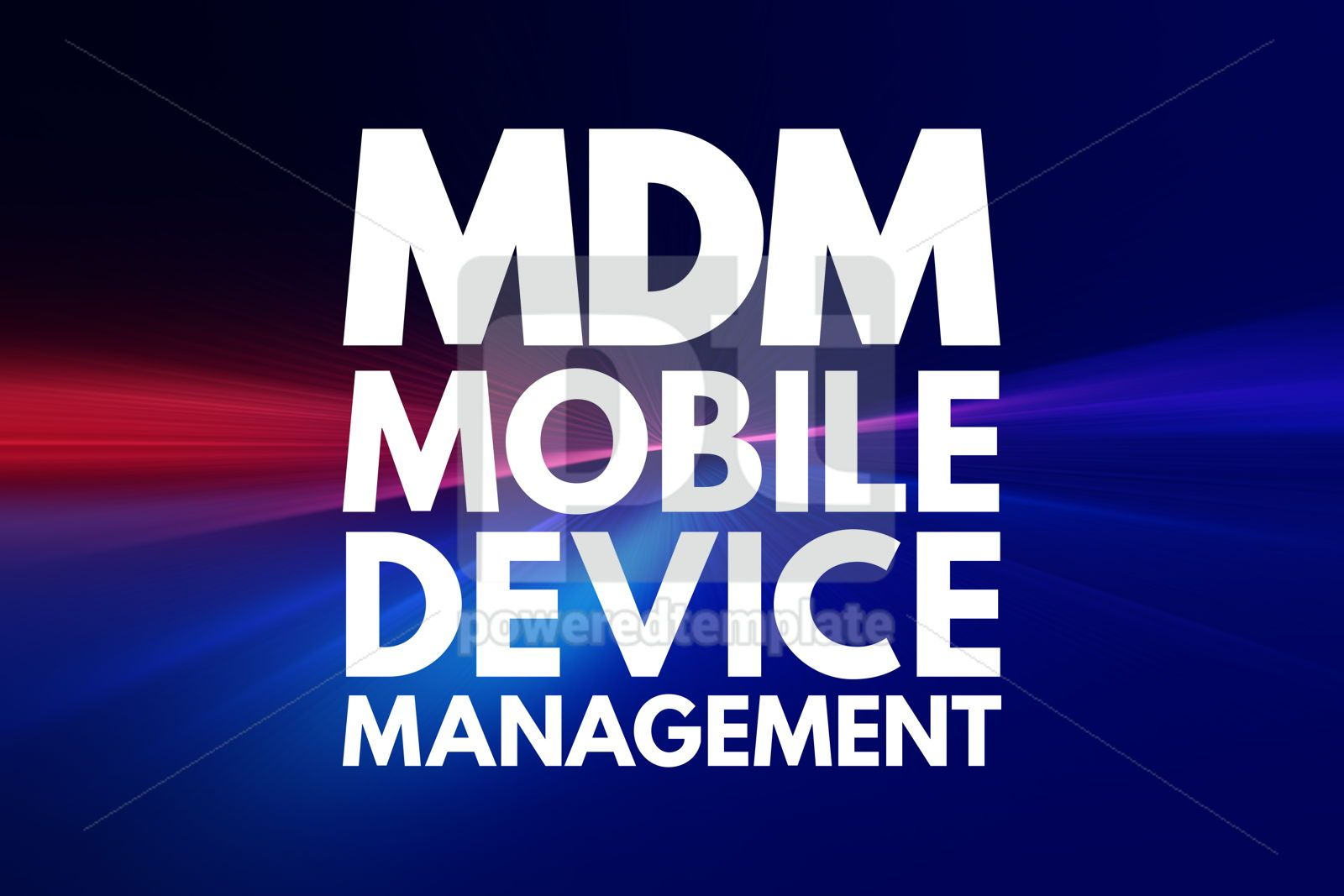 MDM - Mobile Device Management acronym technology concept backg, 16077, Business — PoweredTemplate.com