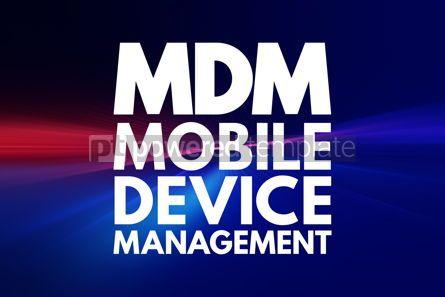 Business: MDM - Mobile Device Management acronym technology concept backg #16077