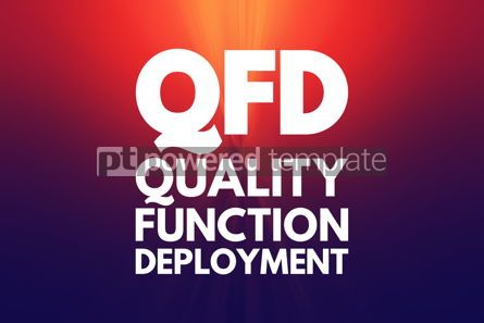 Business: QFD - Quality Function Deployment acronym business concept back #16079