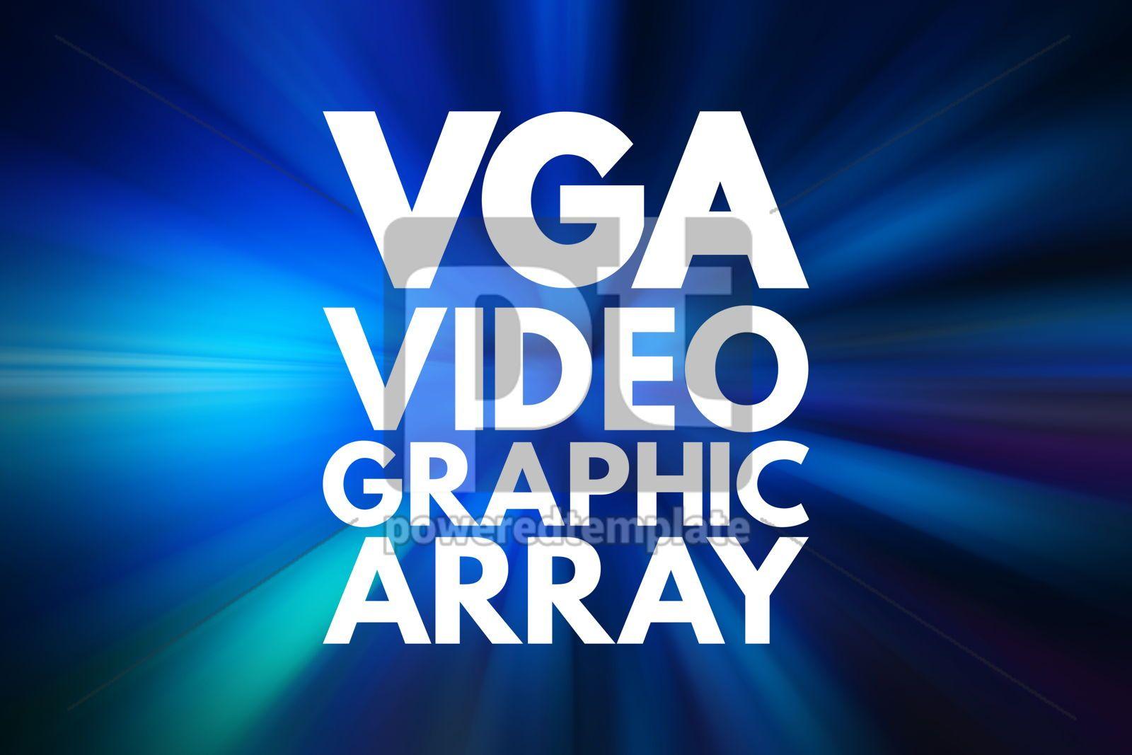 VGA - Video Graphic Array acronym technology concept background, 16088, Business — PoweredTemplate.com