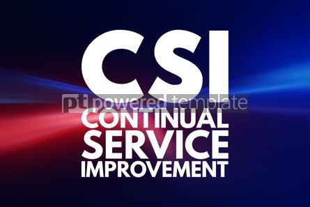 Business: CSI - Continual Service Improvement acronym business concept ba #16094