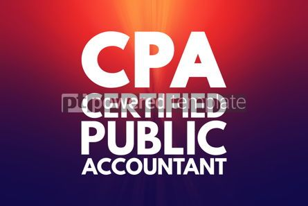 Business: CPA - Certified Public Accountant acronym business concept back #16095