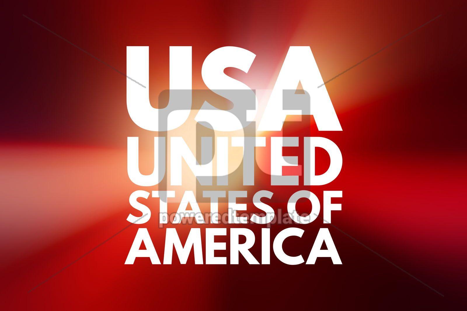 USA - United States of America acronym concept background, 16097, Business — PoweredTemplate.com