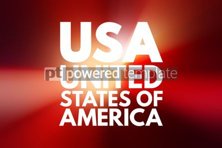 Business: USA - United States of America acronym concept background #16097