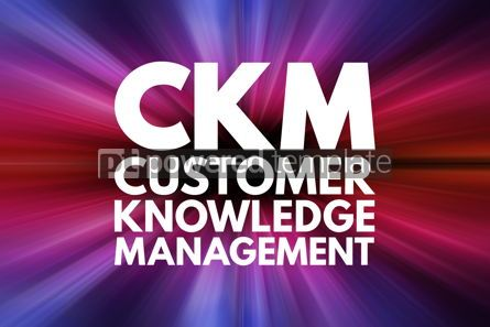 Business: CKM - Customer Knowledge Management acronym business concept ba #16099