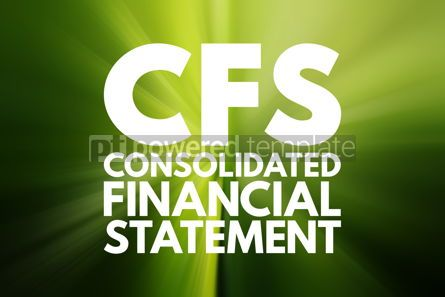 Business: CFS - Consolidated Financial Statement acronym business concept #16114