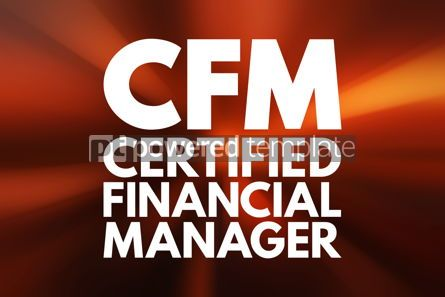 Business: CFM - Certified Financial Manager acronym business concept back #16115