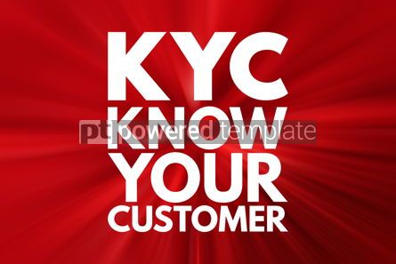 Business: KYC - Know Your Customer acronym business concept background #16116