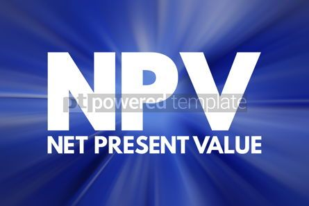 Business: NPV - Net Present Value acronym business concept background #16124