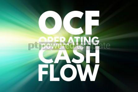 Business: OCF - Operating Cash Flow acronym business concept background #16129