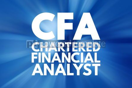 Business: CFA - Chartered Financial Analyst acronym business concept back #16132
