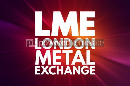 Business: LME - London Metal Exchange acronym business concept background #16134