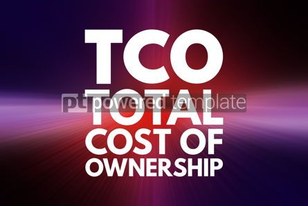 Business: TCO - Total Cost of Ownership acronym business concept backgrou #16143