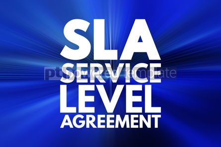 Business: SLA - Service Level Agreement acronym business concept backgrou #16144