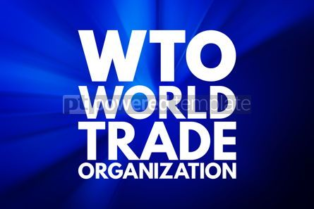 Business: WTO - World Trade Organization acronym business concept backgro #16147