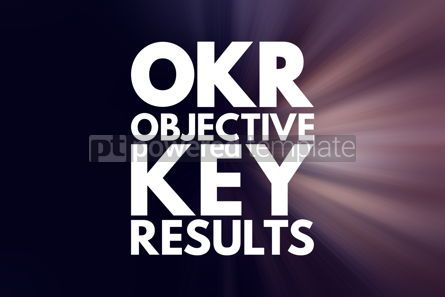 Business: OKR - Objective Key Results acronym business concept background #16155