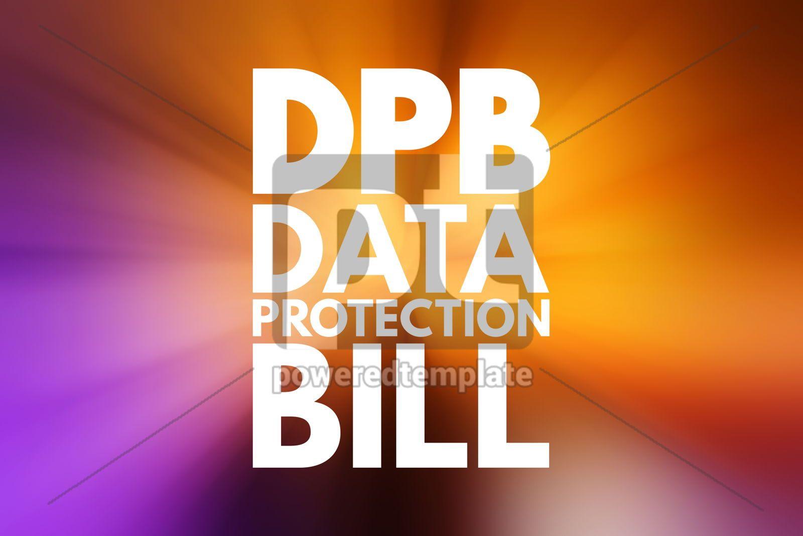 DPB - Data Protection Bill acronym technology concept backgroun, 16158, Business — PoweredTemplate.com