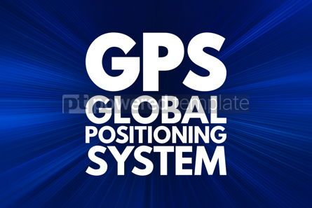 Business: GPS - Global Positioning System acronym technology concept back #16159
