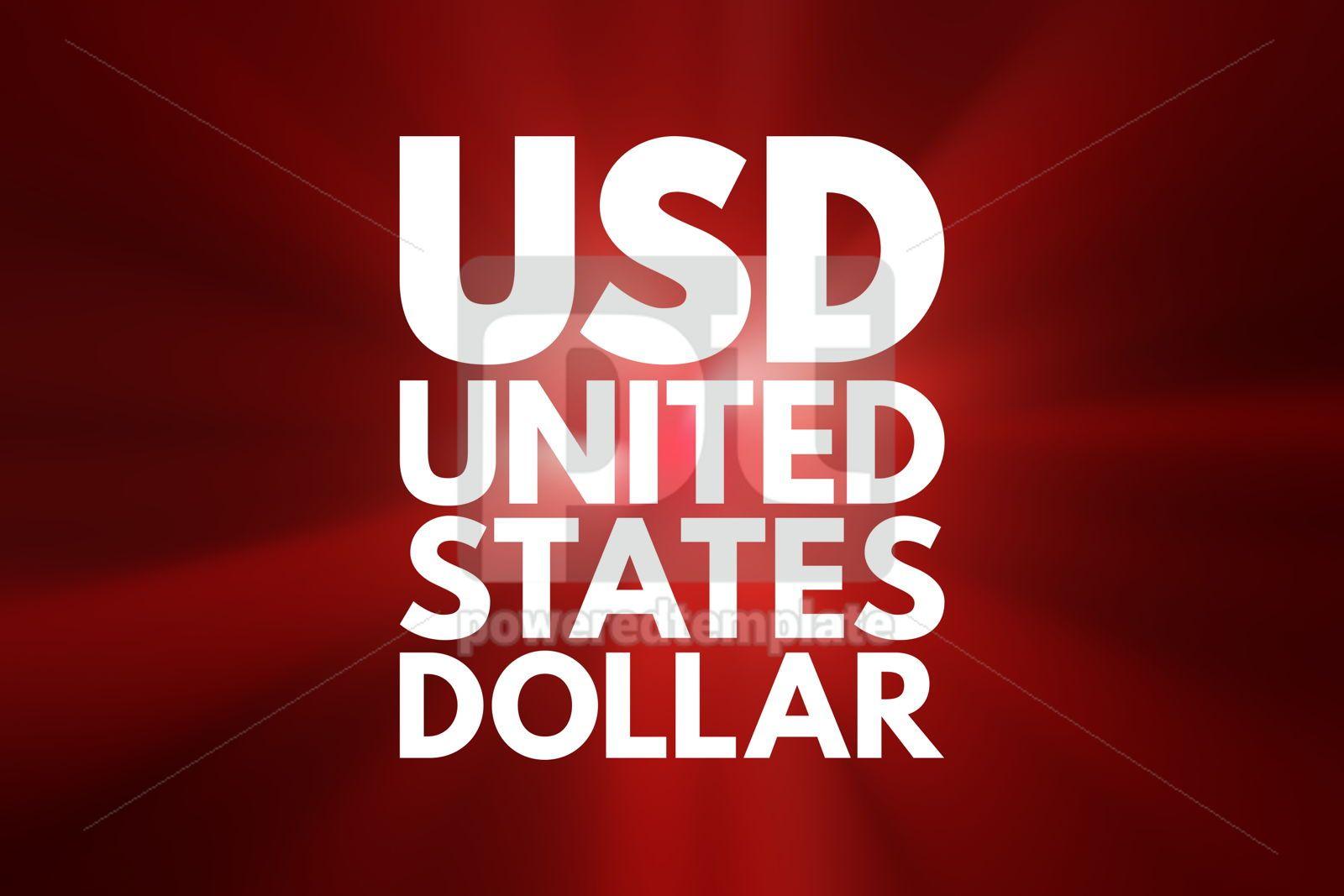 USD - United States Dollar acronym business concept background, 16161, Business — PoweredTemplate.com