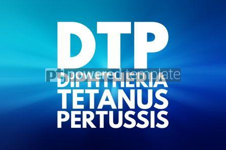 Business: DTP - Diphtheria Tetanus Pertussis acronym medical concept back #16164