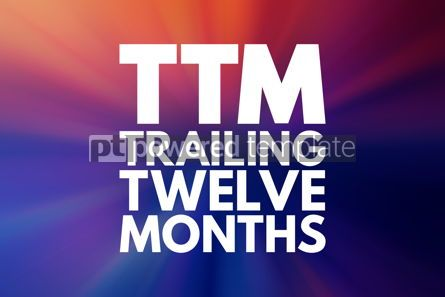 Business: TTM - Trailing Twelve Months acronym business concept backgroun #16167