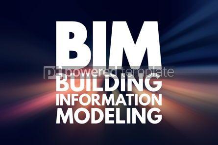 Business: BIM - Building Information Modeling acronym business concept ba #16168