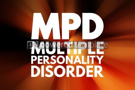 Business: MPD - Multiple Personality Disorder acronym medical concept bac #16172