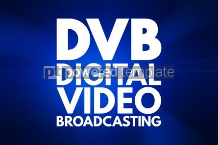 Business: DVB - Digital Video Broadcasting acronym technology concept bac #16173