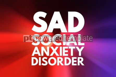 Business: SAD - Social Anxiety Disorder acronym concept background #16175